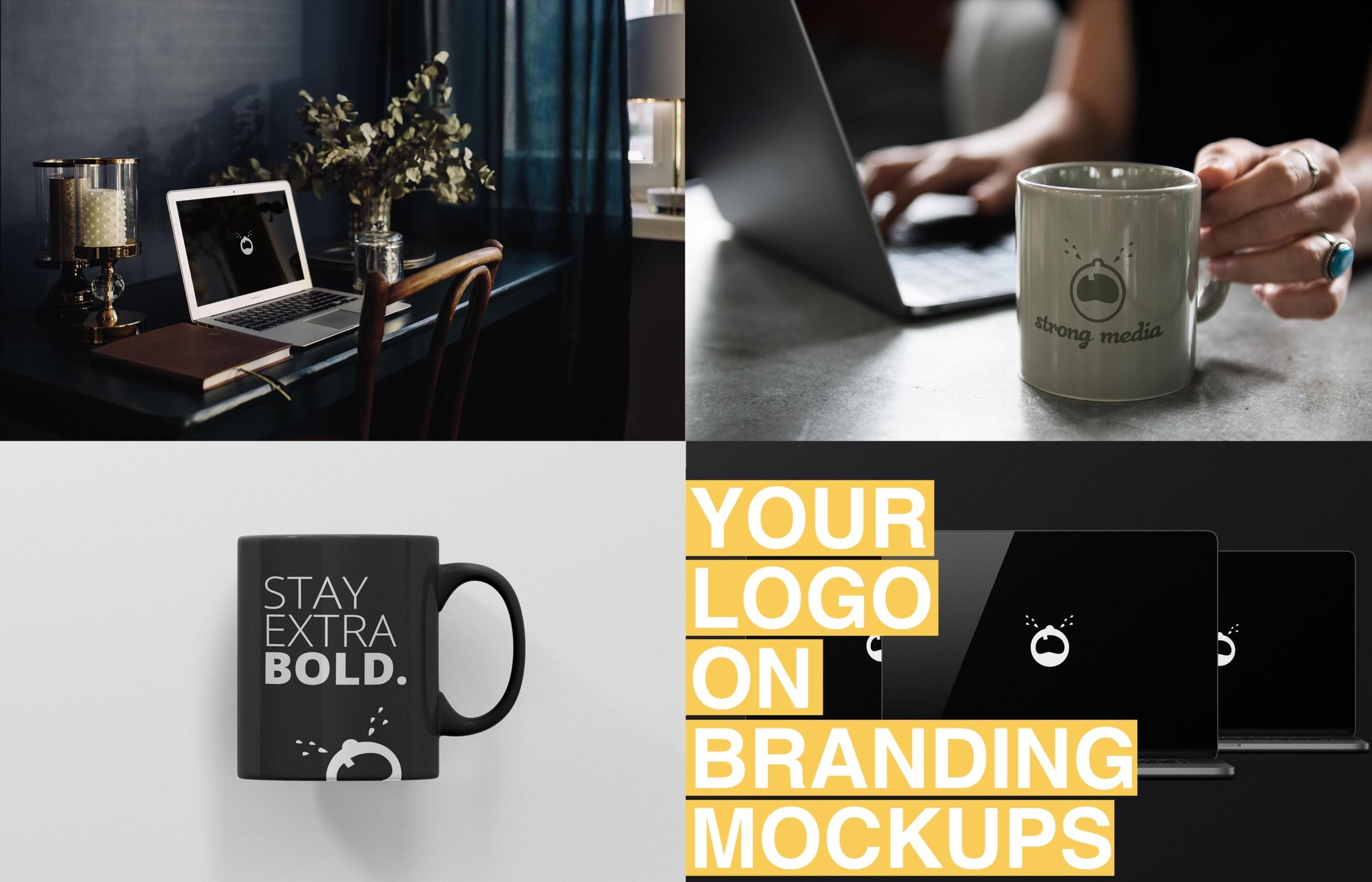 your logo on branding mockupsC